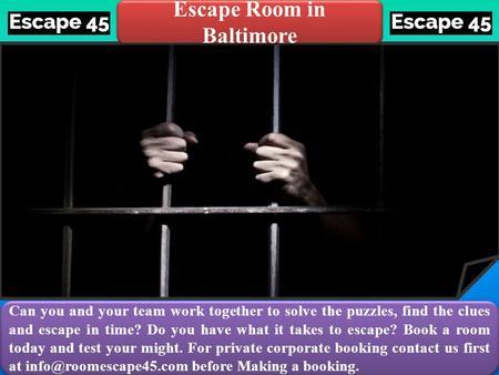 Escape Room For Sclass Room
