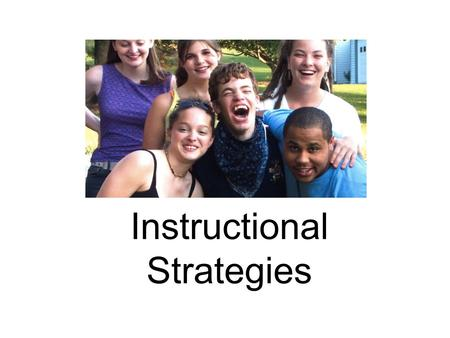 Instructional Strategies. Dr. Marc Gold Most powerful evidence based practices: Inclusive Education Positive Behavior Support Direct & Systematic Instruction.