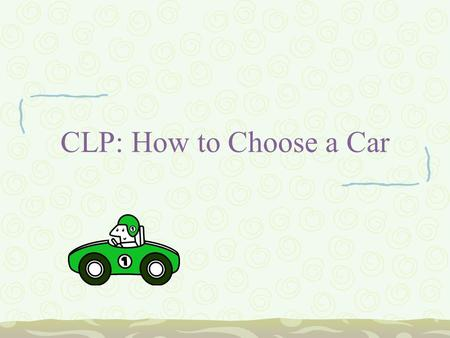 CLP: How to Choose a Car. Can you Afford a Car? As a general rule, you can afford a car loan of no more than 20% of your take-home pay An average new.