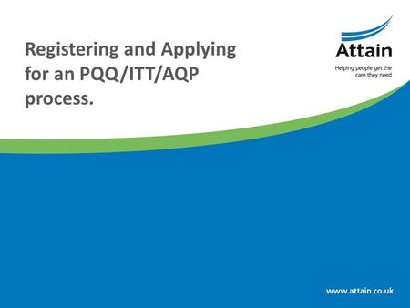 Registering and Applying for an PQQ/ITT/AQP process.
