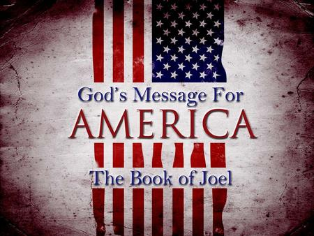 Joel 1:1-3 NIV 1 The word of the L ORD that came to Joel son of Pethuel. 2 Hear this, you elders; listen, all who live in the land. Has anything like.