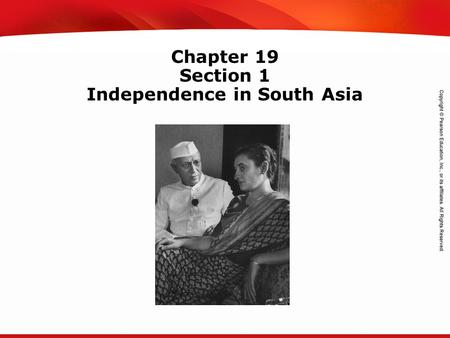TEKS 8C: Calculate percent composition and empirical and molecular formulas. Chapter 19 Section 1 Independence in South Asia.