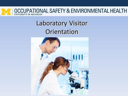 Laboratory Visitor Orientation. Definition of Visitor A visitor is a person touring the laboratory or observing activities for a short period of time.
