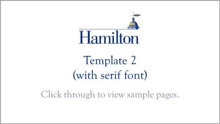 Template 2 (with serif font) Click through to view sample pages.