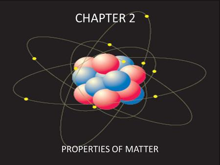 CHAPTER 2 PROPERTIES OF MATTER. BASED ON COMPOSITIONS, MATERIALS CAN BE DIVIDED INTO PURE SUBSTANCES OR MIXTURES.