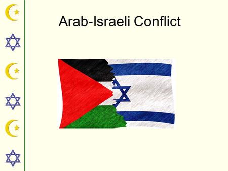 Arab-Israeli Conflict. ZIONISM THE MOVEMENT FOR THE RETURN OF THE JEWISH PEOPLE TO PALESTINE AND THE RESUMPTION OF A JEWISH STATE IN THE LAND OF ISRAEL.