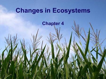 Changes in Ecosystems Chapter 4. How are ecosystems balanced? Living things count on other living things, as well as non-living things to survive. What.