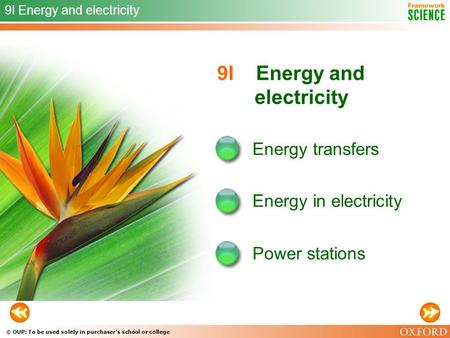 9I Energy and electricity