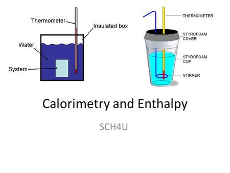Calorimetry and Enthalpy SCH4U. Specific heat capacity (c): quantity of thermal energy required to raise the temperature of 1g of a substance by 1⁰C units.