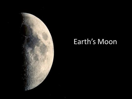 Earth's Moon. Moon Facts The moon is about 230,000 miles from the Earth Its diameter is 2360 miles which makes it the fifth largest moon in the solar.