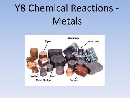 Y8 Chemical Reactions - Metals. Lesson 1 – The Reaction of Metal with Oxygen.