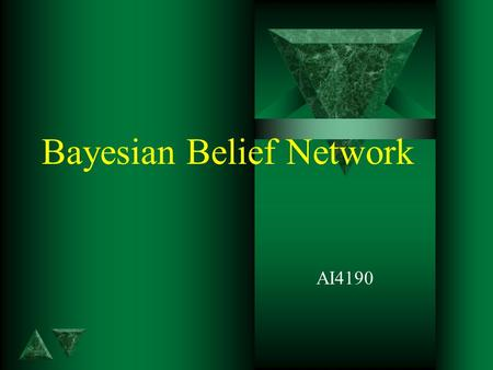 Bayesian Belief Network AI4190. 2 Contents t Introduction t Bayesian Network t KDD Data.