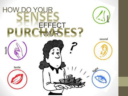 HOW DO YOUR EFFECT YOUR smell sound Sight touch taste.