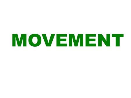 MOVEMENT. BBB MM PP SS GFT RFT TO REMEMBER YOUR MOVEMENT WORDS…..