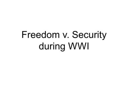 Freedom v. Security during WWI. Debt Reduction Every year the government spends more money than it raises from tax revenue. It is able to do so by borrowing.
