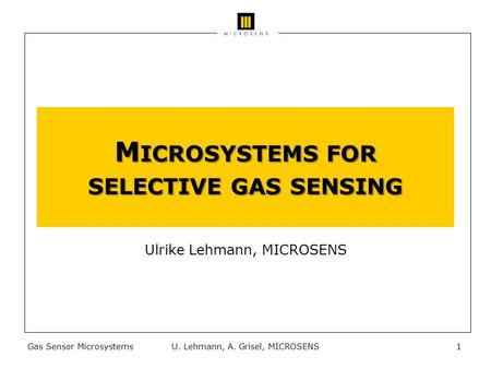 Microsystems for selective gas sensing