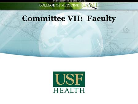 "Committee VII: Faculty. Continuing challenges regarding previous ""findings"" : Enhancement in faculty career development growing out of recent improvement."