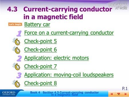 4.3 Current-carrying conductor in a magnetic field