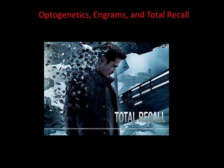 Optogenetics, Engrams, and Total Recall.  clips/total-recall/something-more Objective vs subjective reality In 3 minutes.