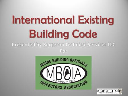 International Existing Building Code. Please turn off your phone or set it to vibrate. If answering a call or texting is necessary please step out of.