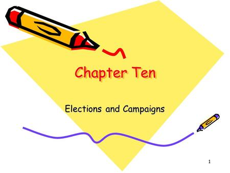1 Chapter Ten Elections and Campaigns. 2 Getting Elected Get Mentioned Tell people, off the record, that you're thinking of running Travel about making.