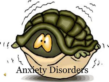 Anxiety Disorders Anxiety Pattern of reactions to a perceived stress Females experience higher rate of anxiety disorders than males Anxiety disorders.