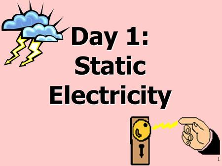 1 Day 1: Static Electricity 2 Electricity exists in nature and comes from the electrons in atoms + - + + + + + - - - - - Most objects tend to be.