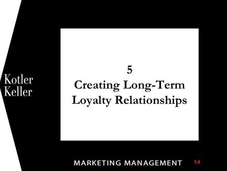 5 Creating Long-Term Loyalty Relationships 1. Chapter Questions  What are customer value, satisfaction, and loyalty, and how can companies deliver them?
