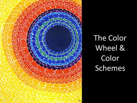 The Color Wheel & Color Schemes. The color wheel is the basic tool for combining colors. The first circular color diagram was designed by Sir Isaac Newton.