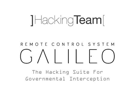 The Hacking Suite For Governmental Interception. Which are todays challenges? Encryption Cloud Mobility.