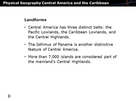 Physical Geography Central America and the Caribbean