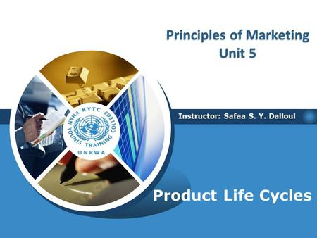 Product Life Cycles Instructor: Safaa S. Y. Dalloul Principles of Marketing Unit 5.