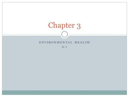 ENVIRONMENTAL HEALTH 3.1 Chapter 3. Water Pollution People depend on the Hydrosphere, lithosphere and biosphere for many of their needs. Just because.