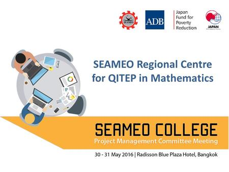 SEAMEO Regional Centre for QITEP in Mathematics. Developing Module on SEA Education for Disaster Risk Reduction (SEA EDRR) Prof. Subanar, PhD Presented.