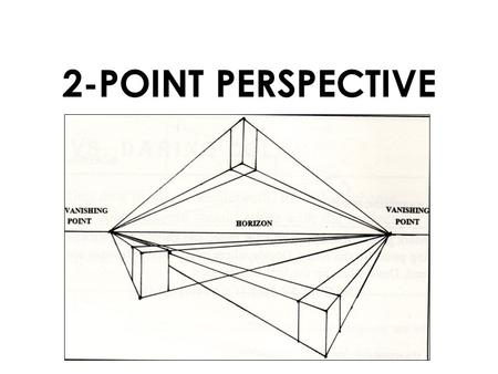 2-POINT PERSPECTIVE. Exercise: Follow the next steps in order to create a box in a 2-point perspective.