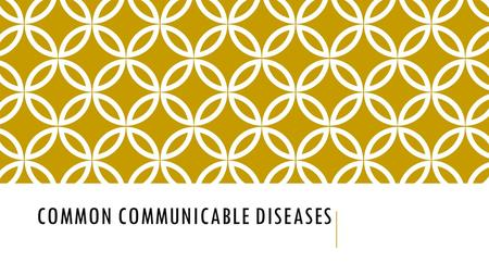 COMMON COMMUNICABLE DISEASES. Target: I will be able to identify different communicable diseases Pg. 65 Influenza: (aka the flu) - a respiratory illness.