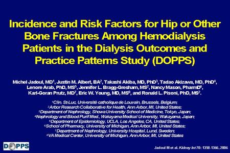 Introduction Data Statistical Methods Table 1: Prevalence of Prior Hip Fracture and Incidence of New Hip Fractures and Fractures of Any Type.