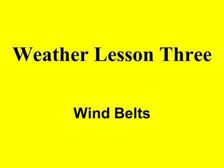 Weather Lesson Three Wind Belts. CORIOLIS EFFECT Deflection of winds caused by Earth's rotation. Winds are deflected to the right in the northern hemisphere,