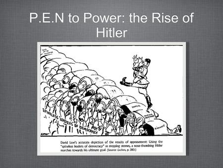 A discussion on how hitler came to power
