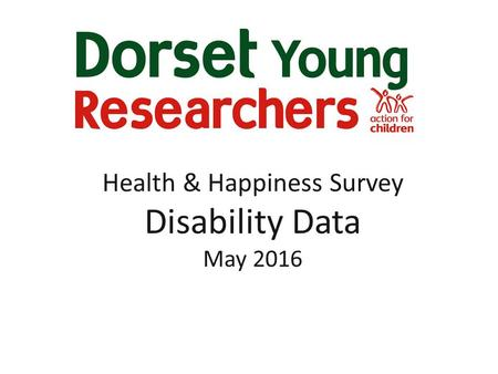Health & Happiness Survey Disability Data May 2016.