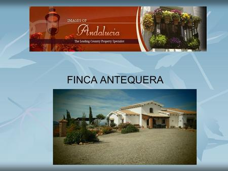 FINCA ANTEQUERA. Finca Antequera Finca Antequera is a large traditional Andalusian country house built in 2005 with a great deal of thought, attention.