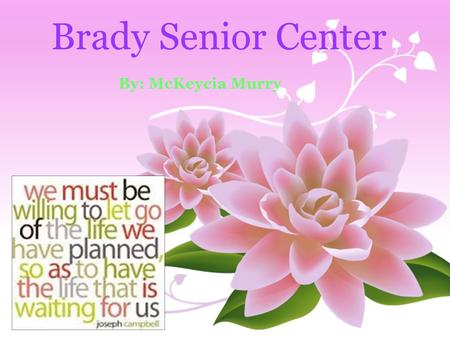 Brady Senior Center By: McKeycia Murry. Crisis The seniors of today are no longer getting as much social security they can't rely on just their children.