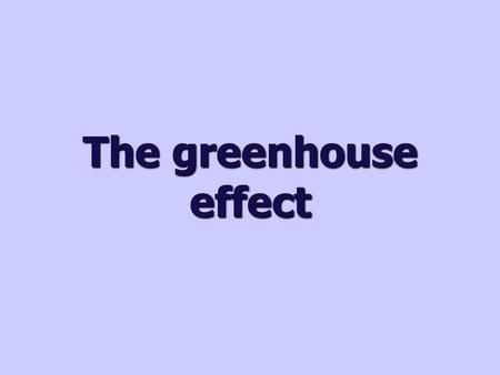 The greenhouse effect. How is the Earth warmed? Climate is affected by the conditions and components of the atmosphere. The Earth's atmosphere acts like.