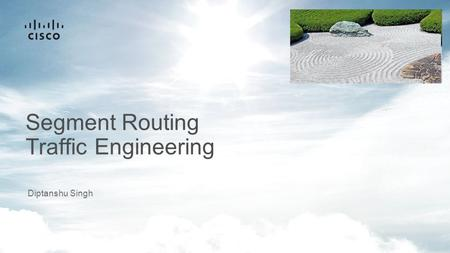 Segment Routing Traffic Engineering Diptanshu Singh.