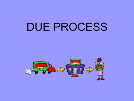 DUE PROCESS. Procedural Due Process v. Substantive Due Process Procedural follows a set procedure, the same for all the accused Such as counsel, unreasonable.