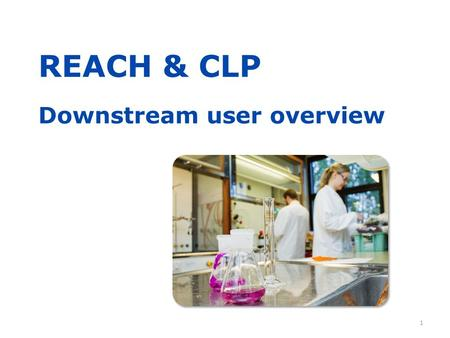 REACH & CLP Downstream user overview 1. Purpose of this presentation  2 This presentation, with notes, was prepared by.