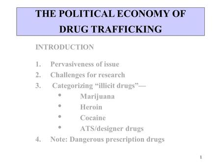 An introduction to the issue of drugs in society