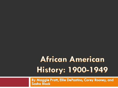 Harlem Renaissance  The Harlem Renaissance took place after World War I and was the beginning of literary and artistic talent from the African Americans.