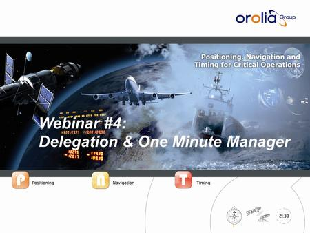 IPrecision™ Systems for Critical Operations 1 Webinar #4: Delegation & One Minute Manager.