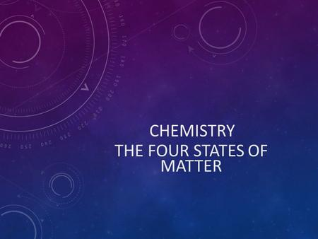 CHEMISTRY THE FOUR STATES OF MATTER. STATES OF MATTER THE FOUR STATES OF MATTER FOUR STATES  SOLID  LIQUID  GAS  PLASMA.